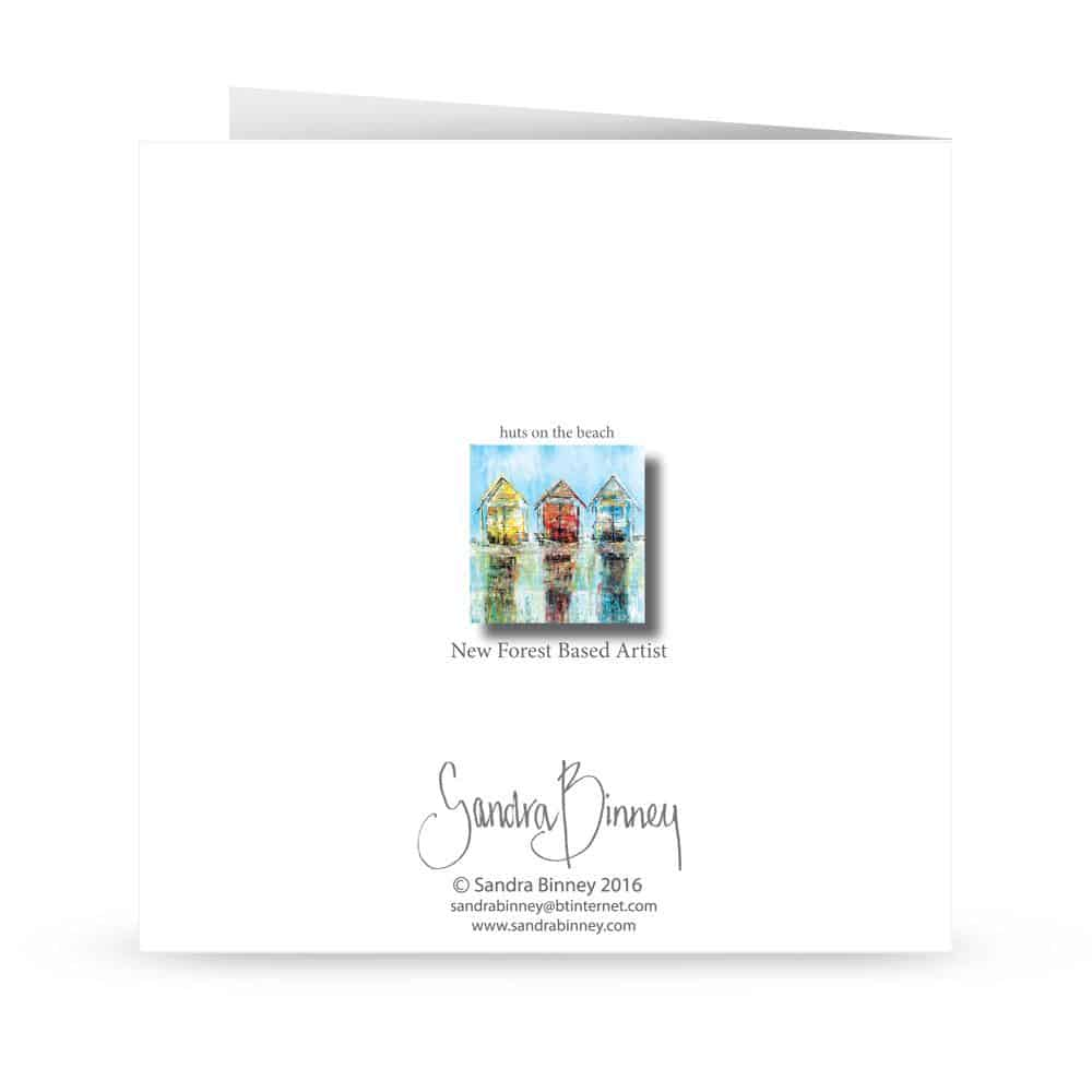'Huts on the beach' Card