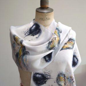 Maiko repeat pattern Silk Scarf