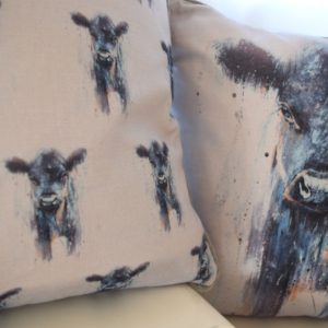 Dexter Cow cushions