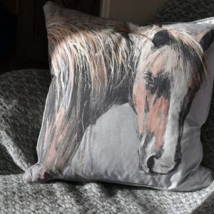 Afternoon light Horse Cushion