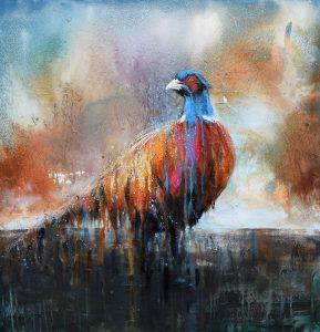 Gallery of Sandra Binney's artwork wetlands visitor