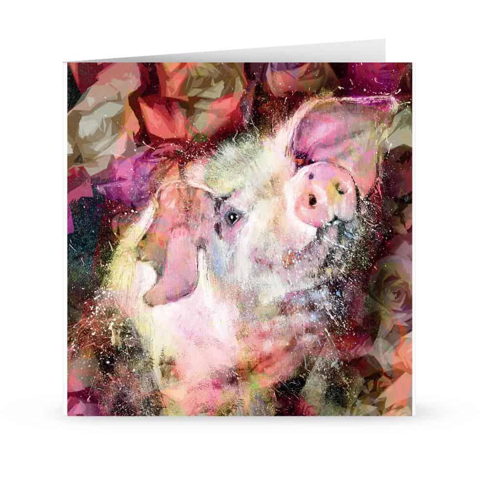 'blooming piglet' Card