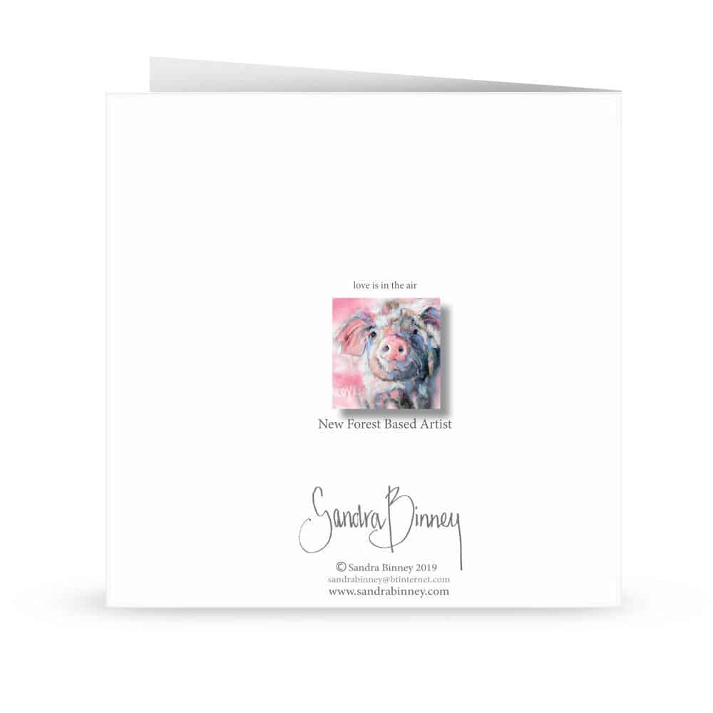 'Love is in the air' Card